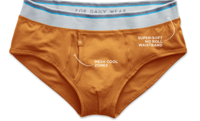 Mack Weldon Orange Briefs