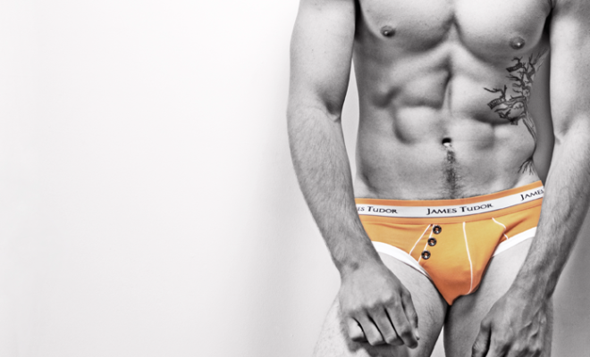 James Tudor Retro Brief Orange Feature
