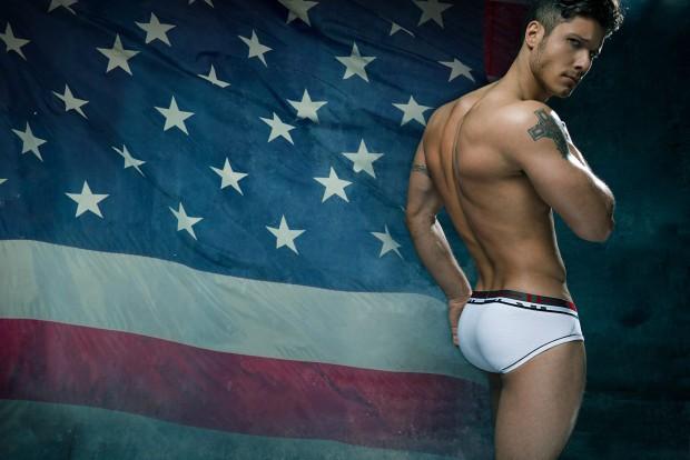 Model Cody Calafiore CIN2 White Briefs Underwear