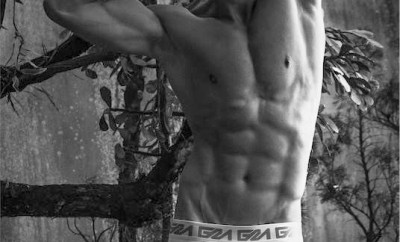 Model Ygor Pignatari shot by Didio Photo wearing Garcon Model Underwear - Black and white2